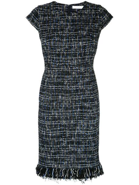 Estnation dress women blue wool