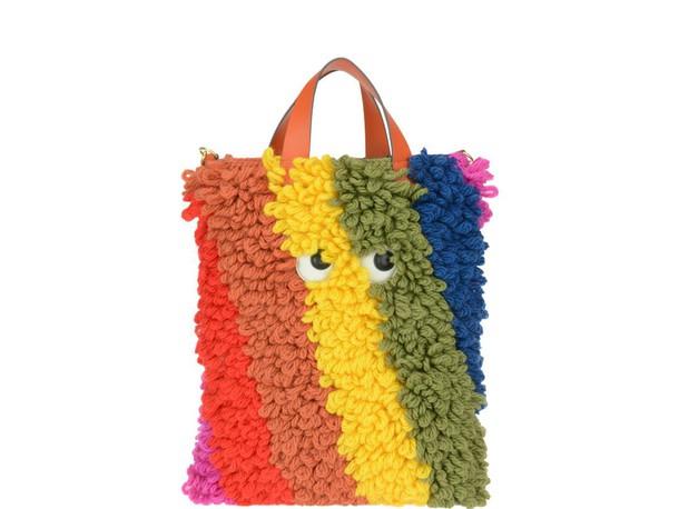 eyes bag wool multicolor
