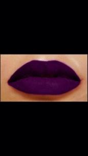 nail polish,make-up,purple lipstick,purple,violet,lipstick,lips,mac cosmetics,mac lipstick