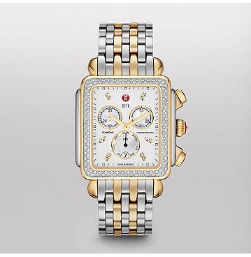 Deco XL Day Diamond Two-Tone, Diamond Dial Watch MWW06Z000013 | MICHELE®