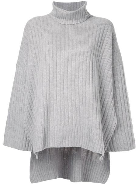 Joseph jumper oversized women wool grey sweater