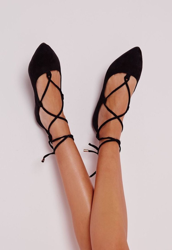 shoes black cute flats strappy sexy lace up