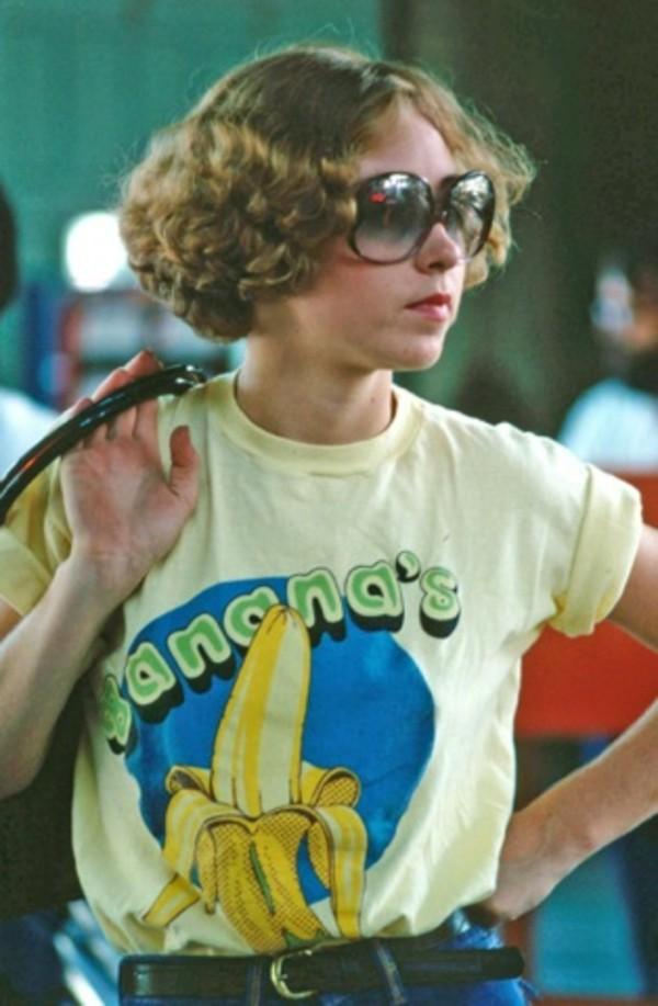 T-shirt: yellow t-shirt, yellow, banana print, bananas ...