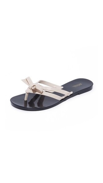 sandals black beige shoes