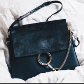 bag,chloe bag,black bag,shoulder bag,chloé,black,leather,chloe faye bag