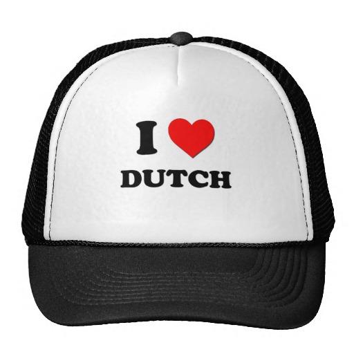 Ik houd van het Nederlands Petten Met Netje van Zazzle.nl