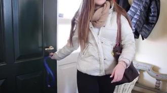 jacket beige faux fur