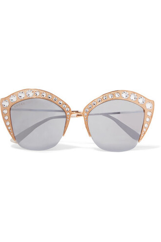 embellished sunglasses mirrored sunglasses gold