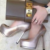 shoes,silver,heels,high heels,high,cute high heels,pumps,fsjshoes