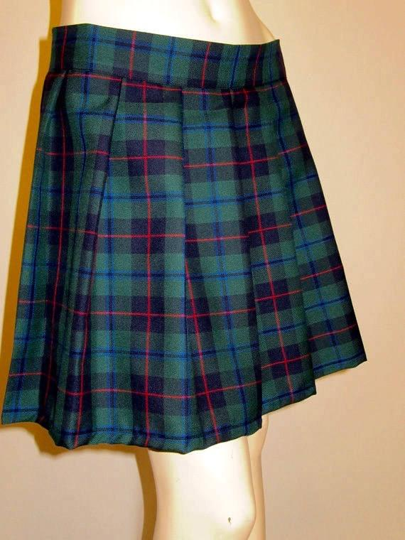 Green Plaid Pleated Skirts~Armstrong Tartan Plaid Pleated Skirt~Cosplay Plaid Skirts Custom Make Running Soccer Plaid Skirts Swim Cover up~