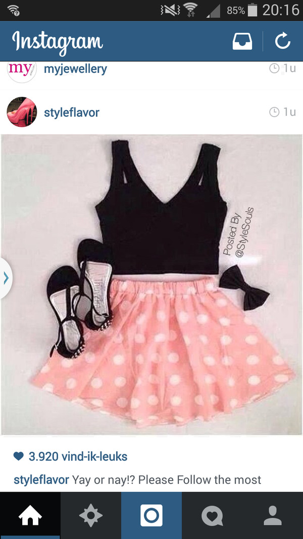 cute dress pinkandblack