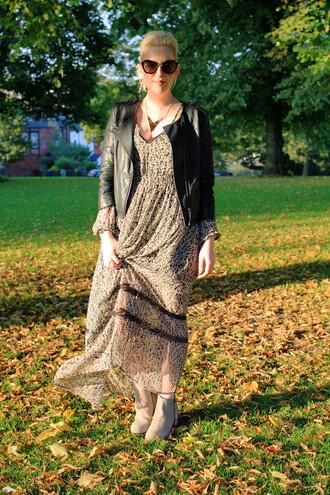 j for jen blogger dress jacket shoes jewels sunglasses