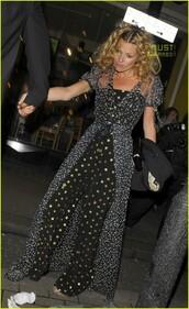 jumpsuit,kate moss,stars,white,navy,black,gold,chanel,blonde hair,gold stars,gold sequins