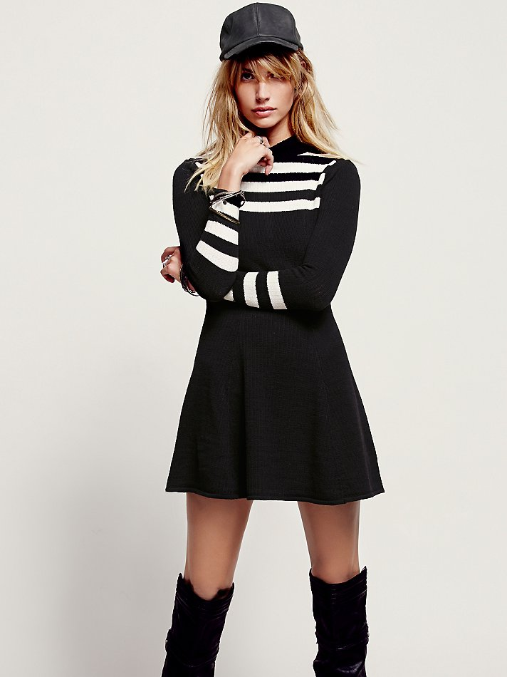 Free people striped sweater dress