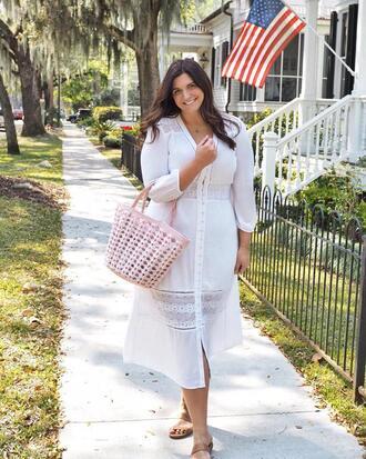 fashion foie gras blogger dress bag basket bag white dress summer dress summer outfits