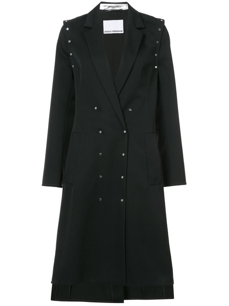 Paco Rabanne coat studded women black wool