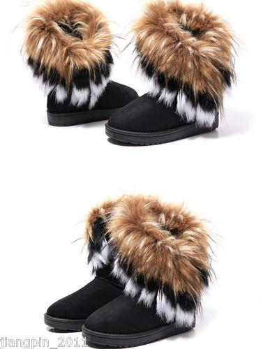 New Women Autumn Winter Snow Boots Ankle Boots Warm Fur Shoes 3 Colors | Amazing Shoes UK