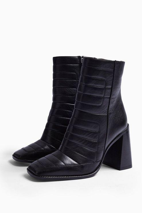 Millenial Black Leather Boots - Black