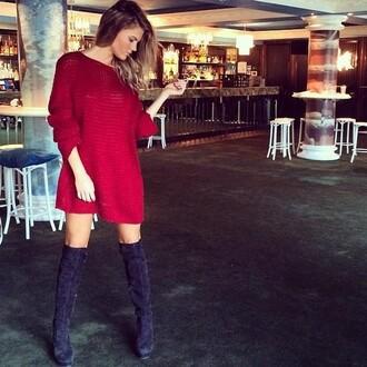dress red dress red knit knit dress