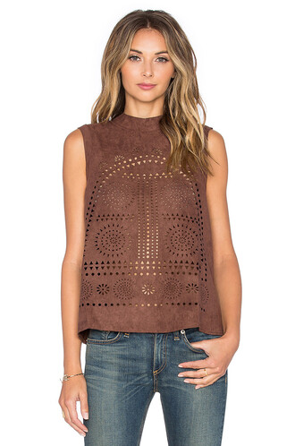 top laser cut brown