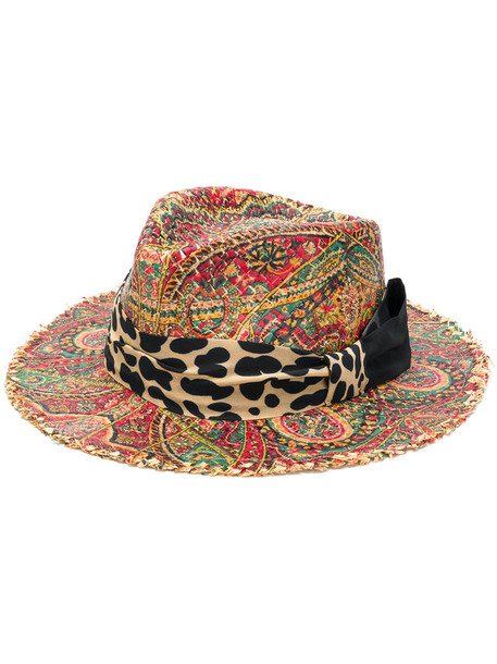 ETRO women fedora cotton silk hat