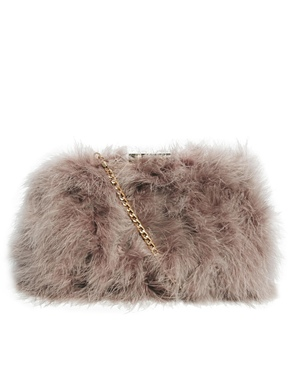 ASOS | ASOS Clutch Bag With All Over Marabou at ASOS