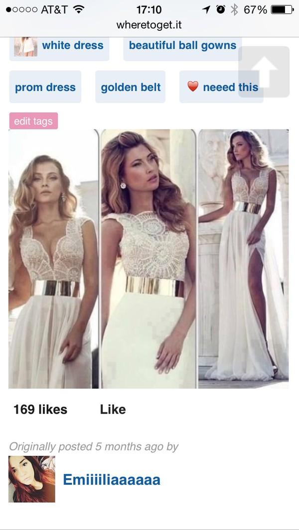 gold belt maxi dress white dress