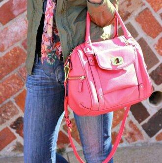 bag pink purse crossbody bag neon neon pink