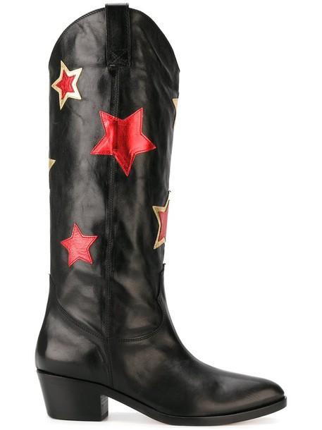 Chiara Ferragni women boots leather black shoes