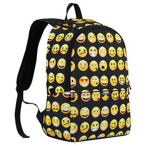 Child Emoji Backpack School Backpacks Bookbag Printed Fashion ...