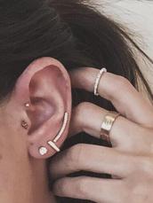 jewels,tragus piercing jewelery,tragus,triangle,gold,diamonds,jewelry,piercing,earrings