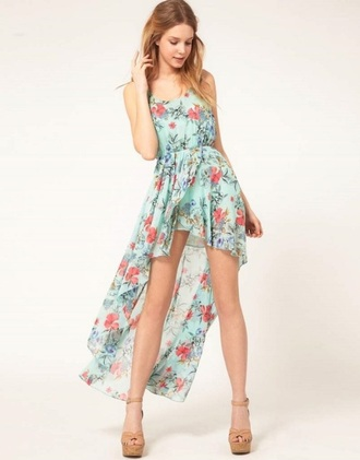dress floral dress floral high low dress