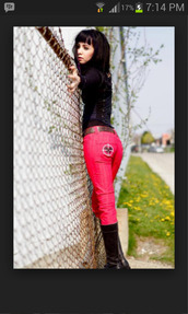 jeans,lost girl,red jeans,Ksenia Solo