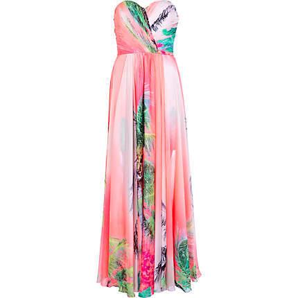 ShopSimple.com-product-Coral-Forever-Unique-tropical-maxi-dress