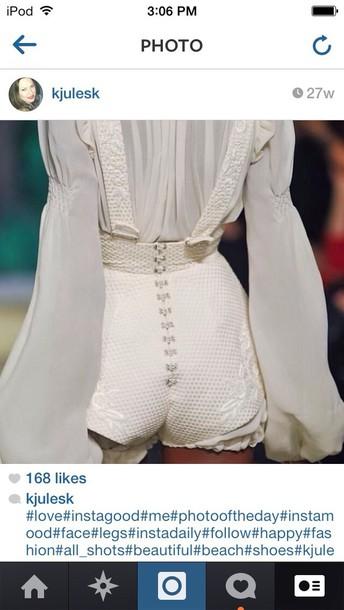 shorts white shorts designer beautiful blouse