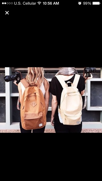 bag tan boho backpack white