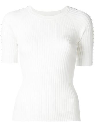 top knit women white cotton