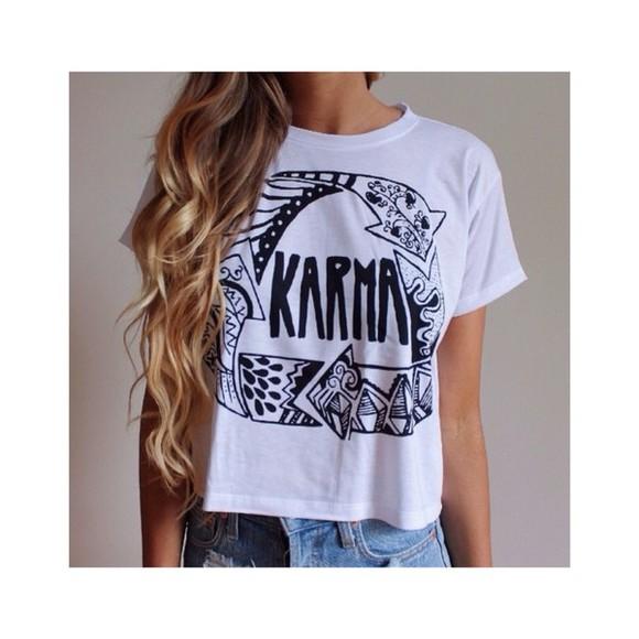 top short sleeved fresh tops karma