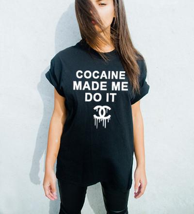 Cocaine Made Me Do It T Shirt Luxury Brand La Online