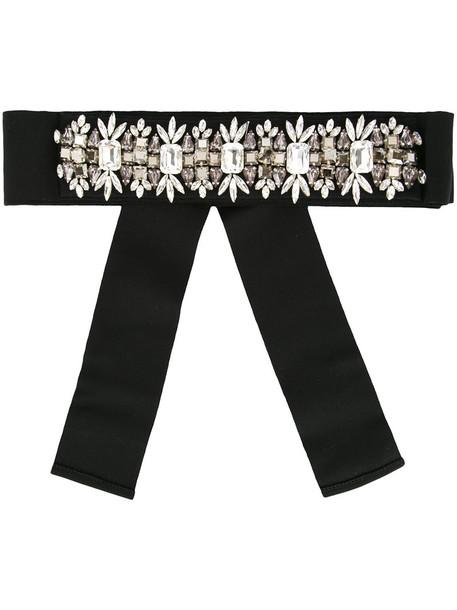 women embellished belt waist belt black