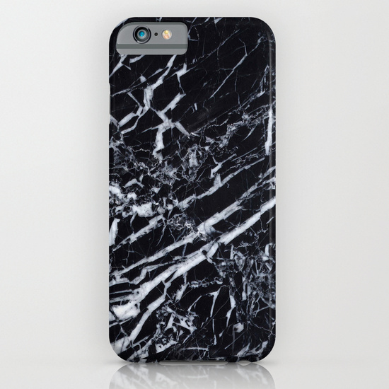 Real Marble Black iPhone & iPod Case by Grace