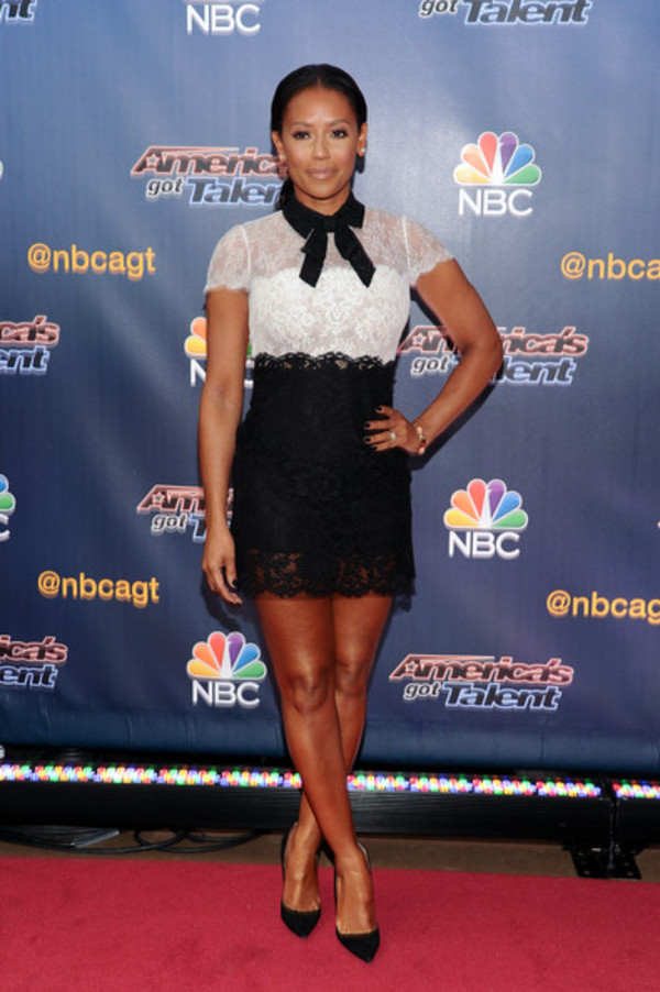 mel b dress black and white dress