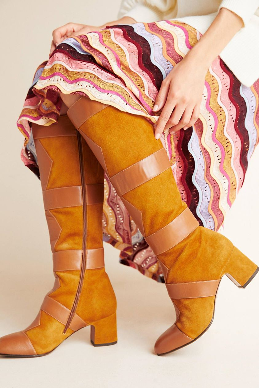 Chie Mihara Guru Knee-High Boots by in Yellow