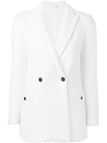 Blazé Milano - quilted blazer - women - Polyester/Viscose - 0, Women's, White, Polyester/Viscose