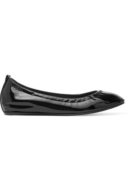 Lanvin - Patent-leather Ballet Flats - Black