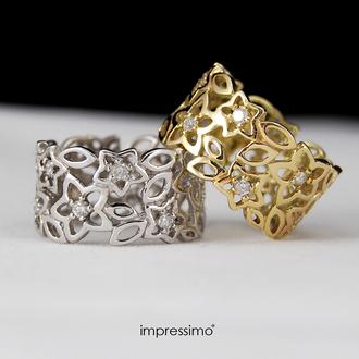jewels impressimo golden rings pierścionki diamonds