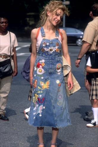 dress denim dress hippie jean overall dress denim overall dress butterfly