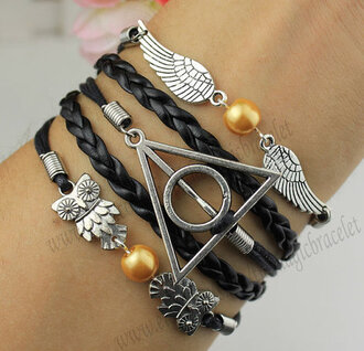 jewels jewelry bracelets harry potter wings wing angel wings
