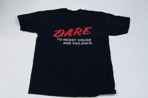 D.A.R.E T Shirt  / No to Drugs T Shirt by TeeandSympathy on Etsy