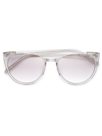 metal cut-out women sunglasses white
